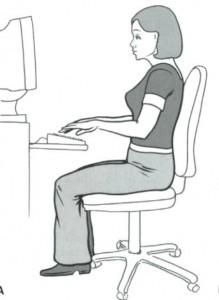 ergonomic desk set up, chiropractor dynamic health