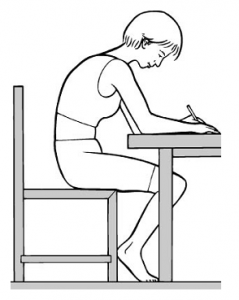 avoid slumping for slipped disc relief