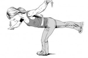 Hip aeroplane exericse. Exercise is an important component of chiropractic for hip pain