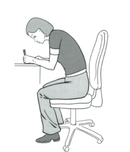 ergonomic chair set up, jersey chirorpactor channel islands