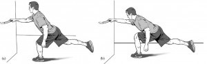 supported reach exercise for knee pain