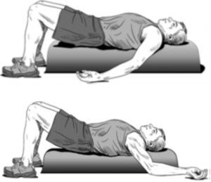 posture exercises for better posture: foam roll angels